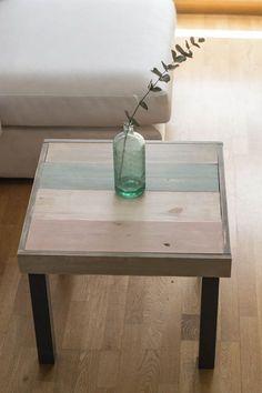 tunear una mesa lack con madera y chalkpaint