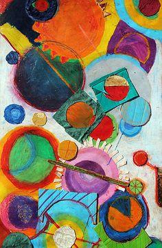 Robert DeLaunay composition. Year 7. KS3. William de Ferrers School.