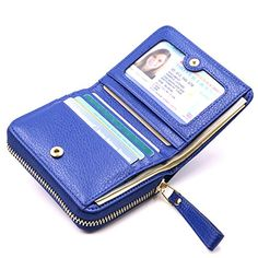 Kinzd Accordion Wallet RFID Leather Card Wallet for Women...