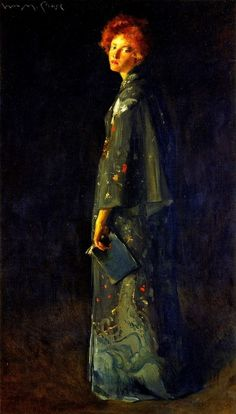 ☂ Paper Lanterns and Parasols ☂ Japonisme Art and Illustration - The Girl with a Book by William Merritt Chase, 1902 Woman Painting, Figure Painting, Painting & Drawing, Arte Fashion, American Impressionism, Pre Raphaelite, Museum Of Fine Arts, American Artists, Figurative Art