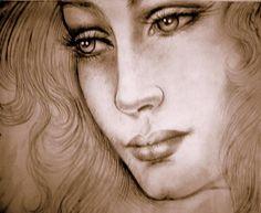 visi femminili disegnati - Cerca con Google