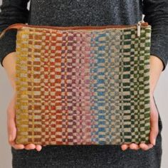 Zipper pouch, Shetland wool, linen & washable paper - Cottongrass