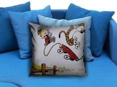 Calvin and Hobbes Playing Pillow case #pillowcase #pillow #cover #pillowcover #printed #modernpillowcase #decorative #throwpillowcase
