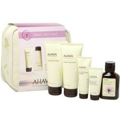 f379a6016a7 This travel kit includes an exclusive collection of AHAVA s skin-nourishing  face and body products to moisturize