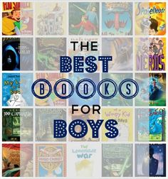best books for boys, from http://www.kludgymom.com