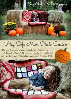 old granny square afghans. plus I love this idea for fall Halloween Photography, Autumn Photography, Photography Ideas, Fall Family Pictures, Fall Photos, Fall Photo Booth, Photo Shoot, Halloween Mini Session, Fall Portraits
