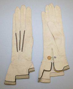 Gloves Date:  1940–59 Culture: German Medium: cotton