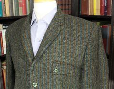 """Striped Harris Tweed Sport Coat; 40-42"""" Chest – Brown & Williams Clothiers"""