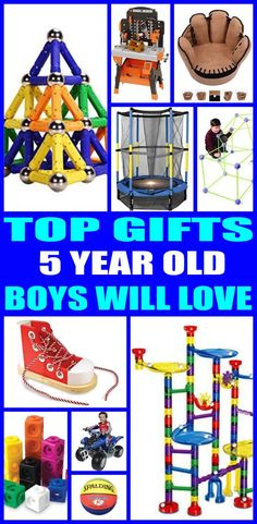 Top gifts for 5 year old boys! Here are the best gifts for that special boys 5th birthday or for his christmas present. Five year old boys will love any of the products from this top gift list. Educational and fun gift ideas for a boys fifth birthday.