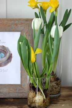 Craftberry Bush | Free Easter nest watercolor printable | http://www.craftberrybush.com LOVE THESE VASES WITH BULBS