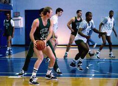 Larry Bird & the @celtics at training camp! #NBAvault