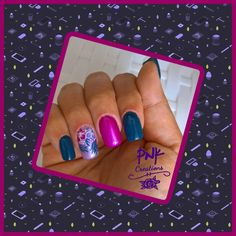 """L.O.V. """"262 azur aphrodisiac"""", catrice """"48 all's well that ends pink"""", trend it up """"050 holo"""", with essence """"45 creating memories"""", moyou """"7  lilac"""", born pretty """"02 chameleon"""" and white stamping nail design Lilac, Pink, Chameleon, My Nails, Stamping, Nailart, Nail Designs, Memories, Pretty"""