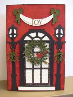 Cricut+Christmas+Card+Ideas | Card Ideas / Christmas Door Card   Cards.    Cricut Forums