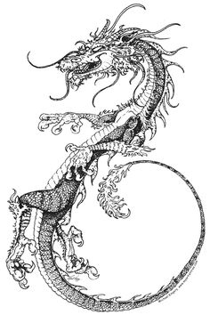 how to draw a chinese dragon easy step by step