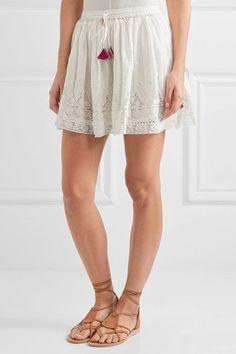 LoveShackFancy - Phoebe Crochet-trimmed Swiss-dot Cotton Skirt - Ivory - x small