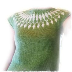 Icelandic inspired vest with colour-work detail in yoke. Knit in the round, with a few rows worked back and forth between armholes and start of yoke. Pattern consists of written instructions up to the start of the yoke, followed by a chart for the yoke colour-work pattern, then finishes with a few additional written instructions.