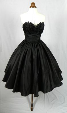 Alluring intricacy, 50s inspired ball dress with beautiful bust detail. Can be made to measure. All sizes are welcome.. $285.00, via Etsy.