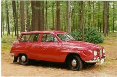 """3d car: Saab 96 wagon. drove it for 10 years. it was a little newer model than this one. 4 speed manual """"on the tree"""" with freewheel."""
