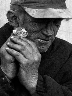 Big man, Big heart.... but what a gentle hand...