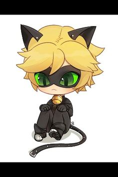 Chat Noir in chibi style. He's so cute! Chibi Cat, Cute Chibi, Anime Chibi, Anime Cat, Kawaii Anime, Miraculous Ladybug Wallpaper, Miraculous Ladybug Fan Art, Ladybug Comics, Miraclous Ladybug