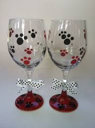 Image result for dog painted glass