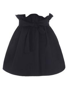 Black High Waist Bud Skirt With Waist Belt