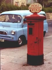 Edward VIII pillar box with POST OFFICE direction sign. on top of a type b pillar box 1936 Antique Mailbox, Letter Boxes, Edward Viii, Mail Boxes, Pub Signs, Directional Signs, Red Bus, Post Box, Vintage Vans