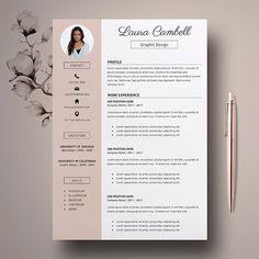Modern Resume Template, CV Template for Word. Template Cv, Modern Resume Template, Resume Templates, Cover Letter For Resume, Cover Letter Template, Letter Templates, Cover Letters, Resume Tips, Resume Cv
