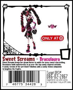 Target exclusive Sweet Screams Draculaura