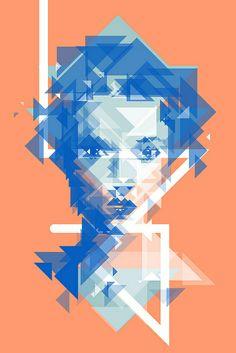 illustration in the form of cubism Vector Portrait, Portrait Art, Portraits, Polygon Art, Portrait Illustration, Grafik Design, Geometric Art, Graphic Design Illustration, Graphic Design Inspiration