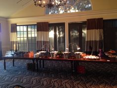 Two sided buffet set up