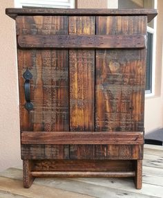Rustic Wall Cabinet made from Reclaimed and by WoodXDesigns