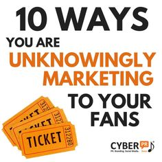 10 ways you are unknowingly marketing to your fans Cyber, Social Media, Marketing, Fans, Digital Media, Productivity, Musicians, Stage, Blog