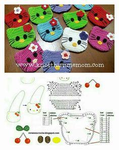 Hello Kitty Crochet Coin Purse