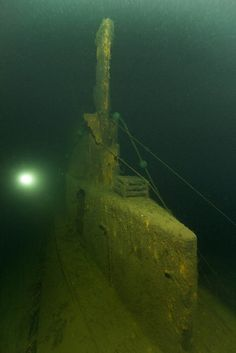 Beautiful image of intact Submarine Wreck Underwater Shipwreck, Underwater World, Abandoned Ships, Abandoned Places, Ghost Ship, Deep Blue Sea, Underwater Photography, Water Crafts, Scuba Diving