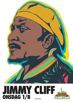 Jimmy Cliff poster by Kristian Russell