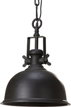 Takkopp i metall med feste for takkrok. 50 cm i diameter, høyde 52 cm. Ledningslengde 100 cm. E27 maks 60w.