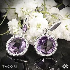 Tacori Lilac Blossoms Amethyst Earrings in Sterling Silver with 18K Yellow Gold Accents