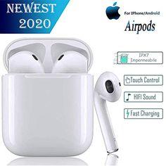Wei/ß und Sport-Headsets mit IPX5 Waterproof TWS i12 Earbuds Bluetooth 5.0-Kopfh/örer mit HD-Stereo-Sound Touch-Control Pop-Ups Auto Pairing f/ür Android//IOS-Smartphones Kopfh/örer f/ür Arbeits