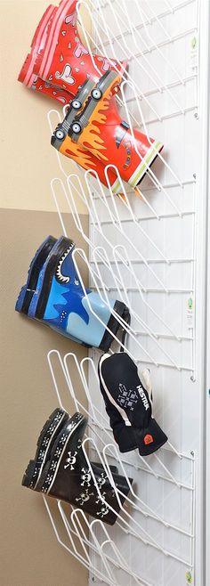 Smart #skoförvaring till #tvättstugan.