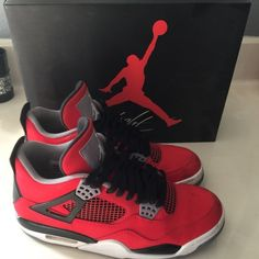 Air Jordan retro 4 toro Sold out in stores Air Jordan's.   Worn twice.  Size 7 1/2 men's = 9 1/2 women's.  Selling on eBay for over $200. Air jordans Shoes Athletic Shoes