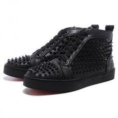 Shopping Cheap Christian Louboutin Outlet Online Mans Sneakers Sticher  Leather Canvas Red Sale.