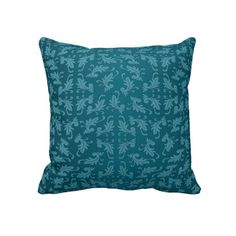 Blue Damask Pillow