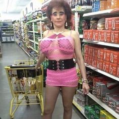Here is an example of inappropriate attire. I mean, after all, that is not a Wal Mart store.