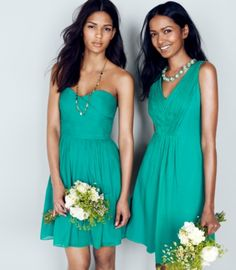 Fresh coloured bridesmaid dressed - My wedding ideas