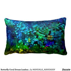 Butterfly Coral Dream Lumbar Pillow