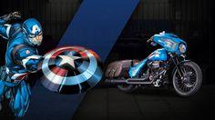 ハーレーからマーベル公式のスーパーヒーローカスタムバイクが登場