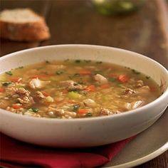 Chicken, Sausage, and Rice Soup | MyRecipes.com