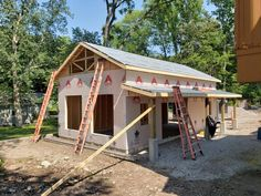 In process near Catawba Island. Catawba Island, Pole Barns, Shed, Cottage, Outdoor Structures, Cabin, House Styles, Pictures, Home Decor