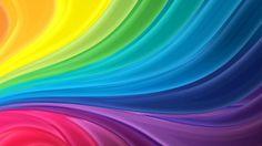 Arcobaleno Stripes Astratto Onde